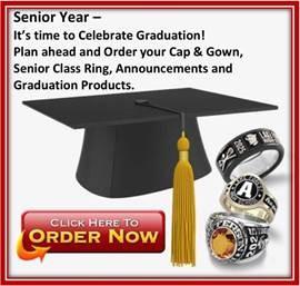 link to Jostens website for cap & gown ordering