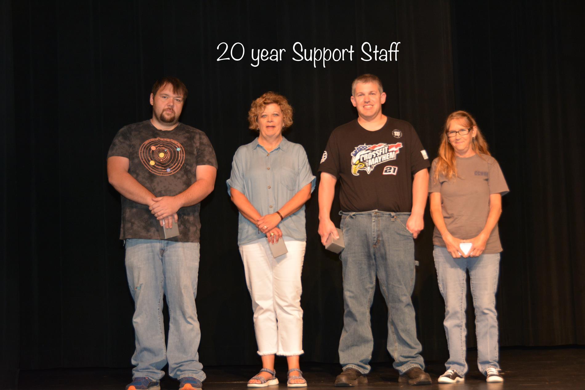 20 year Support Staff