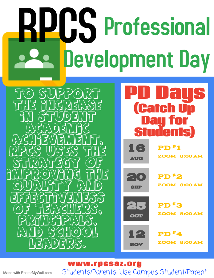 PD Day for Staff - Catch Up Day for Students Flyer