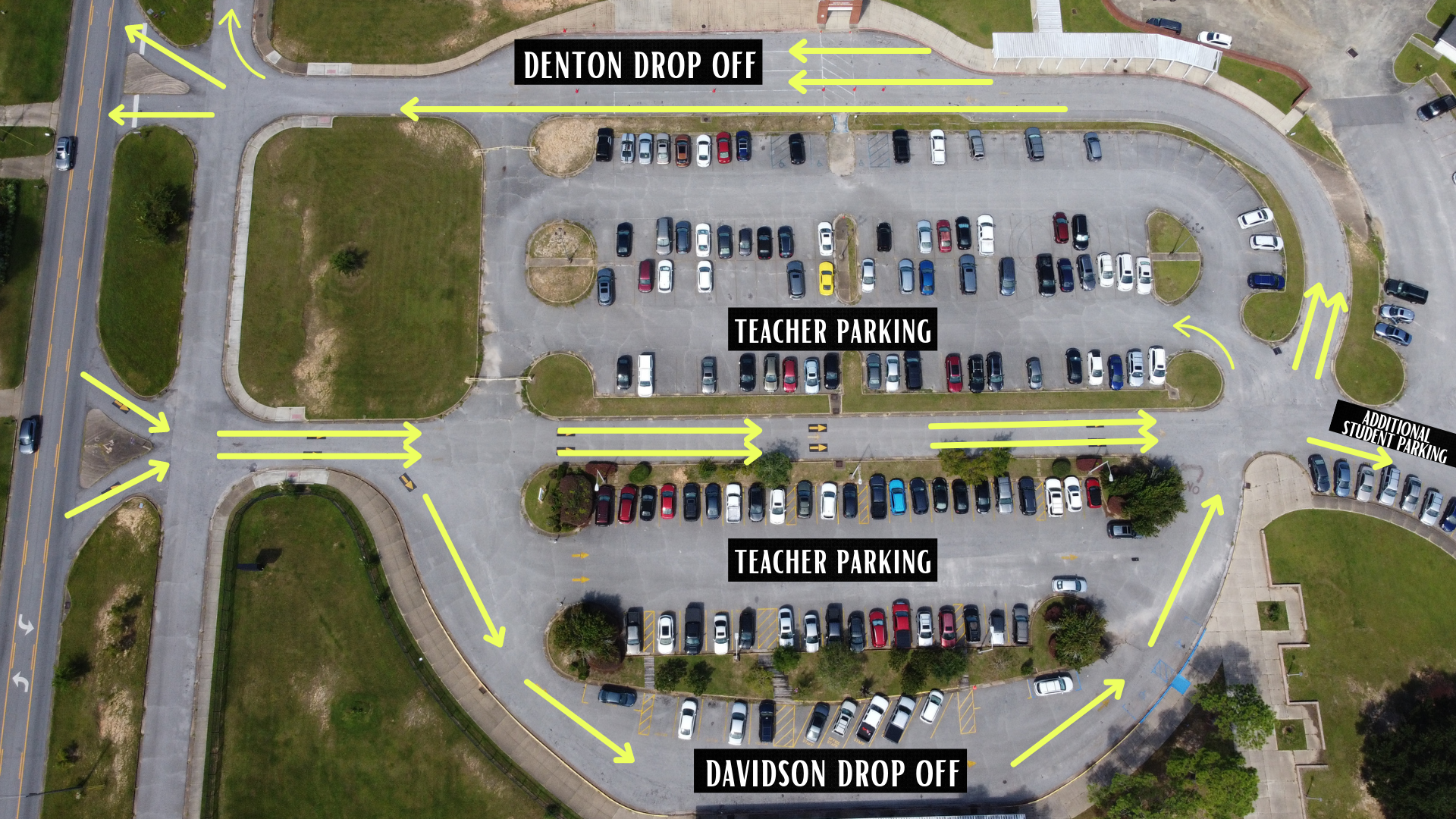 parking and drop off map