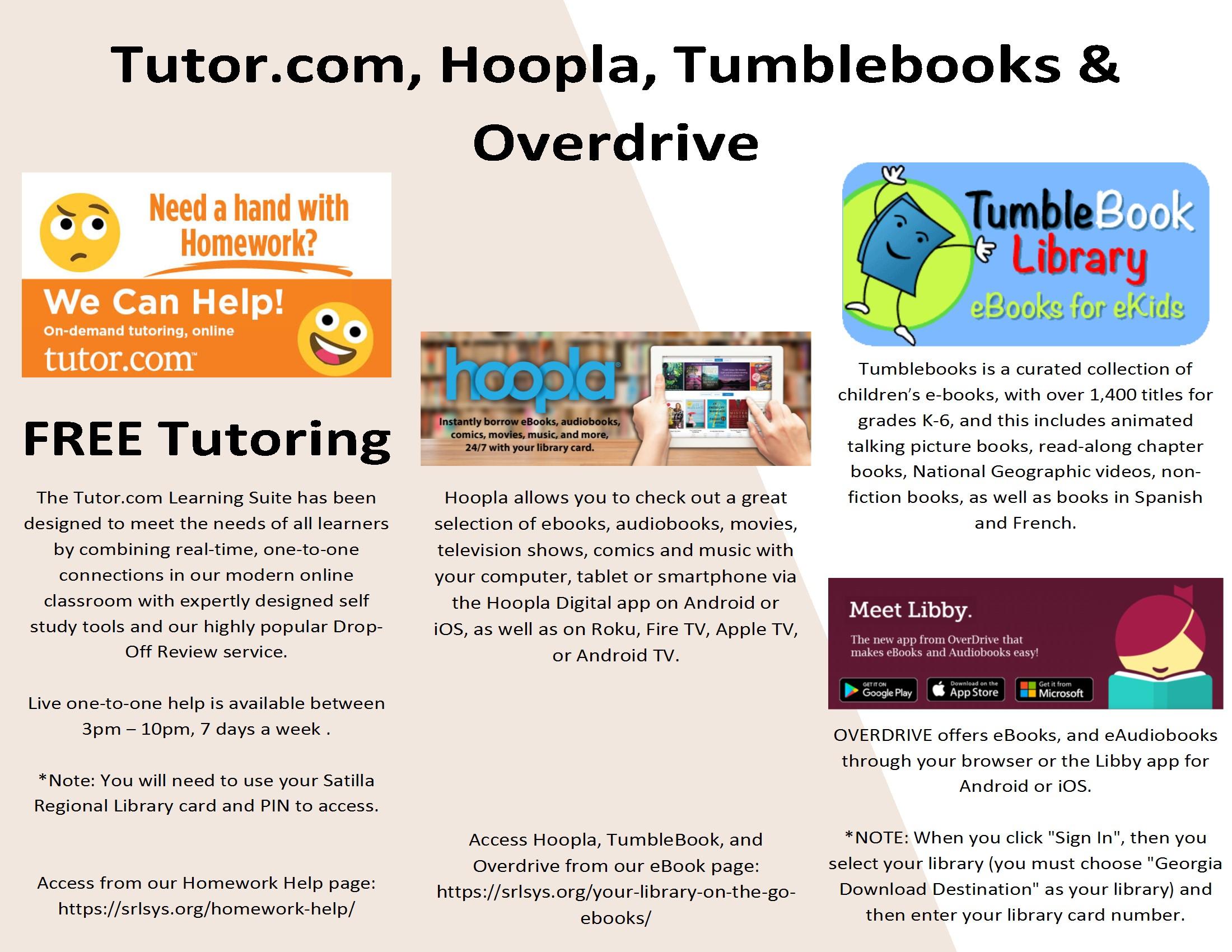 Tutor.com Services with Satilla Regional Library Card