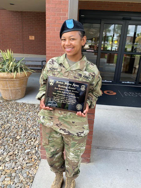Army Private Second Class Layla Norris