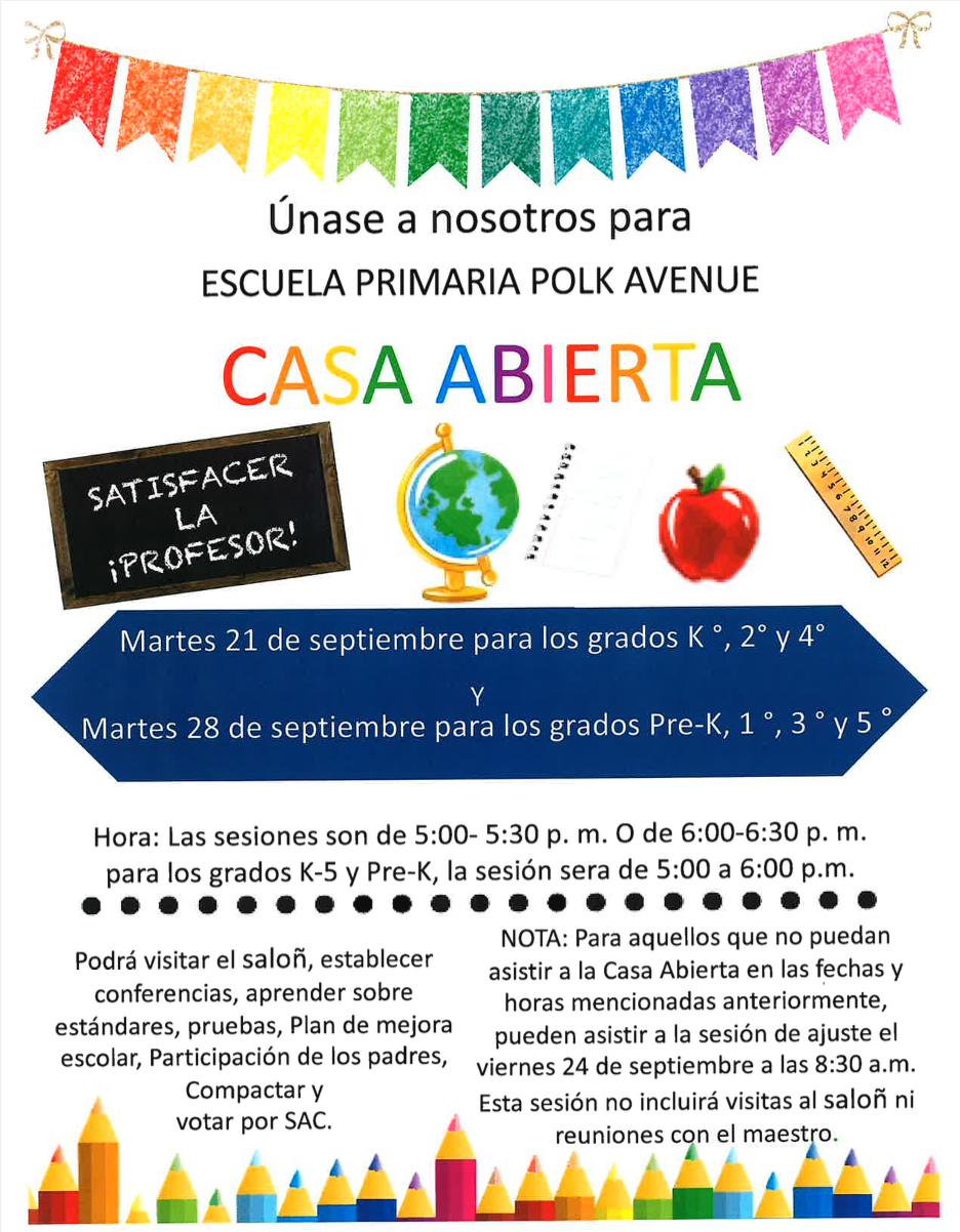 PAE Casa Abierta 09-21-2021