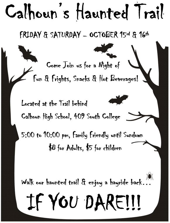 haunted trail flyer