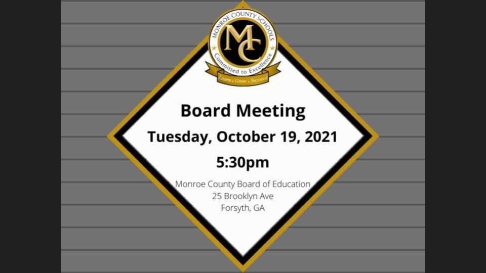 Monroe County BOE Meeting