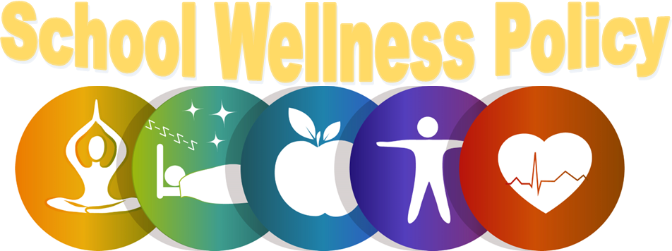 school wellness policy with pictures to represent healthy habits