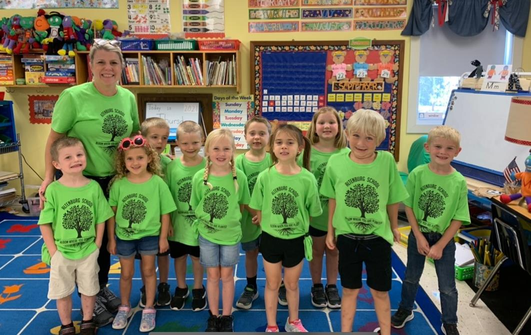 Mrs. Fritsche and her Class