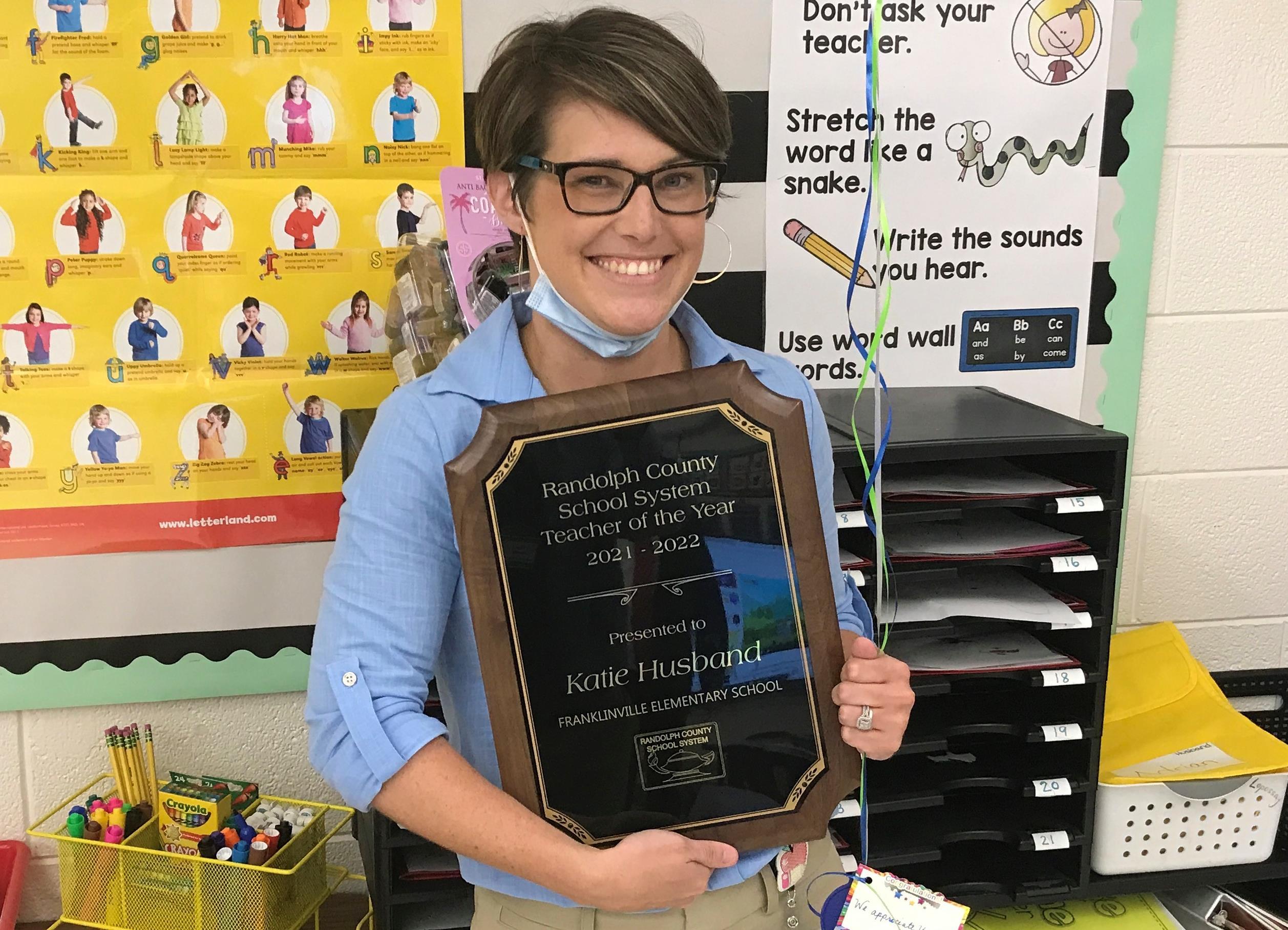 Katie Husband Teacher of the Year 2021-2022