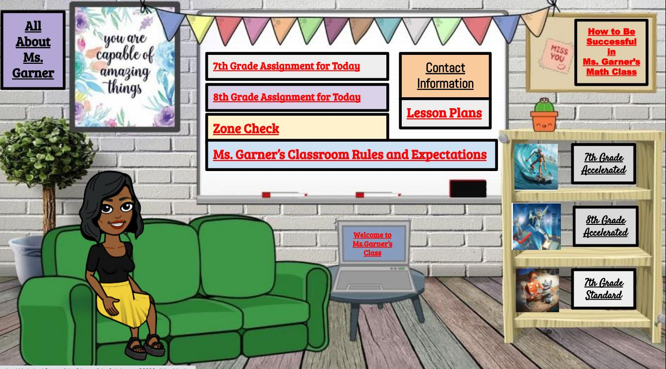Mrs. Garners website image